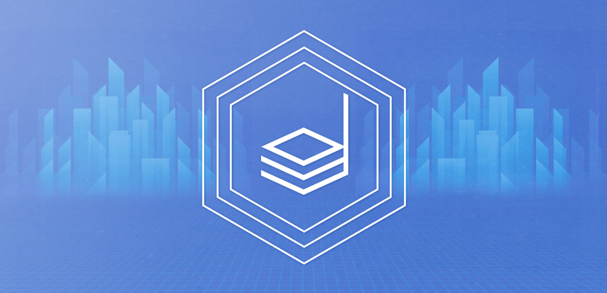digital cabinet logo within hexagonal lines in front of a blue digital city skyline